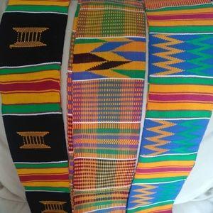 Strips of kente cloth